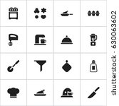 set of 16 editable cook icons....