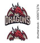 dragon sport logo   Shutterstock .eps vector #630071276