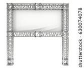 steel truss girder element... | Shutterstock . vector #630074078