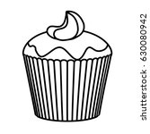 delicious and sweet cupcake icon | Shutterstock .eps vector #630080942