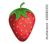 delicious strawberry fruit icon   Shutterstock .eps vector #630082352