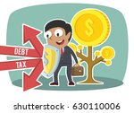 african businessman protecting... | Shutterstock . vector #630110006