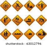 glossy diamond road signs 12...