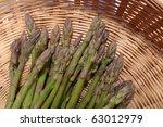 fresh green asparagus spears in ... | Shutterstock . vector #63012979