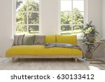 white room with sofa and green... | Shutterstock . vector #630133412