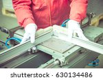 Small photo of detail shot of extruded aluminum industry in a plant