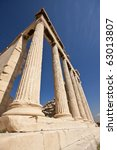 Columns Of Parthenon Building ...