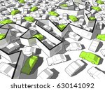 3d illustration of green... | Shutterstock .eps vector #630141092