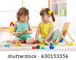 children playing together with... | Shutterstock . vector #630153356