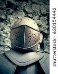 Stock photo medieval armor detail of an old knight armor 630154442