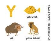 Letter Y. Cartoon Alphabet For...