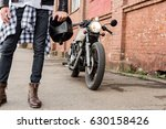 close up of a handsome rider... | Shutterstock . vector #630158426