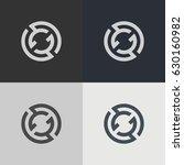 abstract circle logo. logo... | Shutterstock .eps vector #630160982