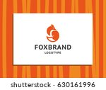 fox brand   the orange fox logo ... | Shutterstock .eps vector #630161996