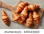 Freshly Baked Croissants On...