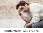 problems and stress  stressed... | Shutterstock . vector #630172676