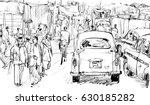 sketch of cityscape in kolkata  ...   Shutterstock .eps vector #630185282