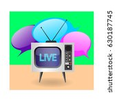 the illustration of a retro tv... | Shutterstock .eps vector #630187745