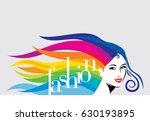 fashion illustration of girl... | Shutterstock .eps vector #630193895