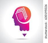 thinking brain a creative idea... | Shutterstock .eps vector #630195026