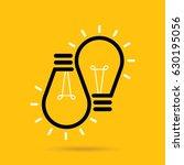 vector flat light bulb. modern... | Shutterstock .eps vector #630195056