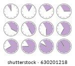 violet clock  fifty five... | Shutterstock .eps vector #630201218