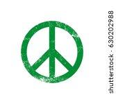 peace green grunge logo vector | Shutterstock .eps vector #630202988