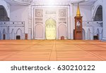nabawi mosque building interior ... | Shutterstock .eps vector #630210122