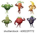 vector set of cartoon images of ... | Shutterstock .eps vector #630229772