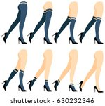 set of woman socks. | Shutterstock .eps vector #630232346