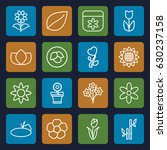 floral icons set. set of 16... | Shutterstock .eps vector #630237158
