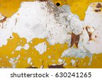 rusted white painted metal wall....   Shutterstock . vector #630241265