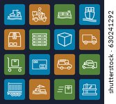 shipping icons set. set of 16... | Shutterstock .eps vector #630241292