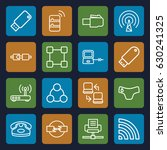 connect icons set. set of 16... | Shutterstock .eps vector #630241325