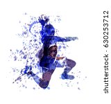 vector watercolor sketch of a... | Shutterstock .eps vector #630253712