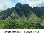 the koolau range on oahu ...   Shutterstock . vector #630264716