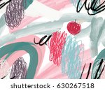watercolor brush strokes with... | Shutterstock .eps vector #630267518