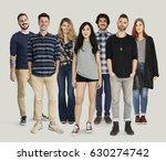 group of diversity people... | Shutterstock . vector #630274742