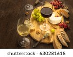 a photo of a wine and cheese... | Shutterstock . vector #630281618