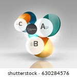 glass circles banner in 3d space | Shutterstock .eps vector #630284576