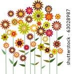 autumn flower garden  vector... | Shutterstock .eps vector #63028987