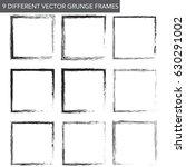 nine different vector grunge... | Shutterstock .eps vector #630291002
