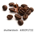 roasted coffee beans isolated... | Shutterstock . vector #630291722