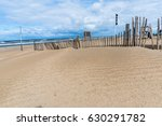 old wood fence at the beach | Shutterstock . vector #630291782