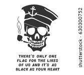 Vector Image Of Skull Captain...