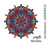 abstract doodle zentangle...   Shutterstock .eps vector #630306512