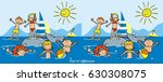 find ten differences  game ... | Shutterstock .eps vector #630308075