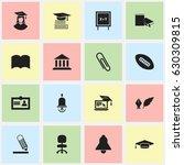 set of 16 editable school icons....