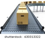 cardboard boxes on conveyor... | Shutterstock . vector #630313322