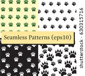 cat or dog paw seamless pattern ... | Shutterstock .eps vector #630315716